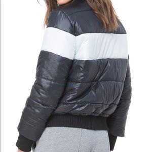 JUICY COUTURE Women's Colorblock Puffer Coat